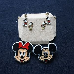 Vintage Mickey and Minnie Mouse Earrings and Pins
